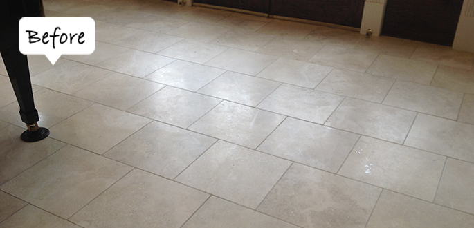 Sir Grout of Greater Boston Travertine Before Honing and Polishing