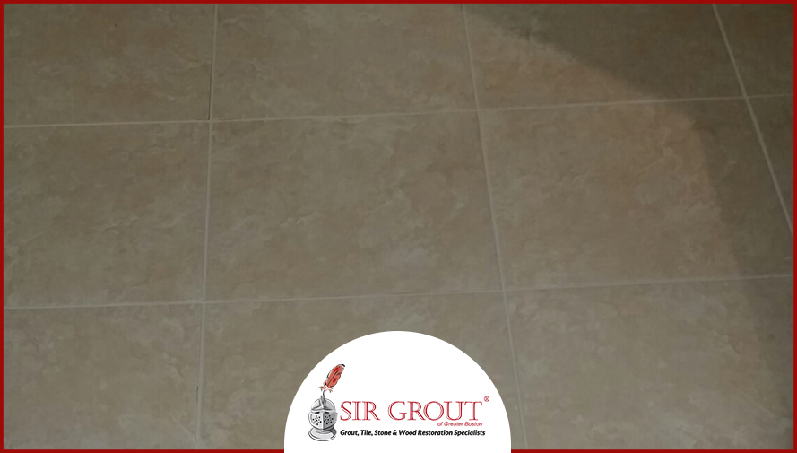 Grout Recoloring Creates the Look of New Grout for Lynnfield Home