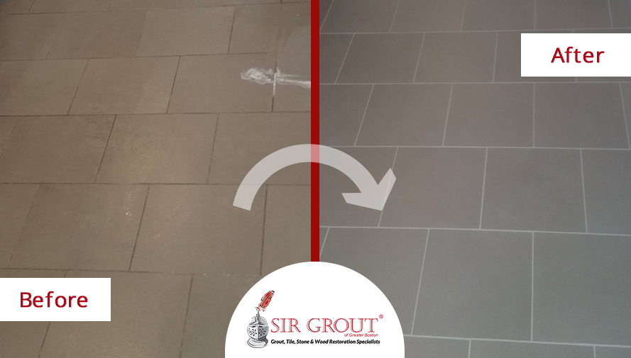 Grout Recoloring Gives New Life to This Chestnut Hill Resident's Home