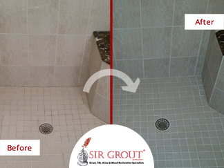 Before And After: Epoxy Color Seal Makes A Shower In Chestnut Hill Look  Brand New