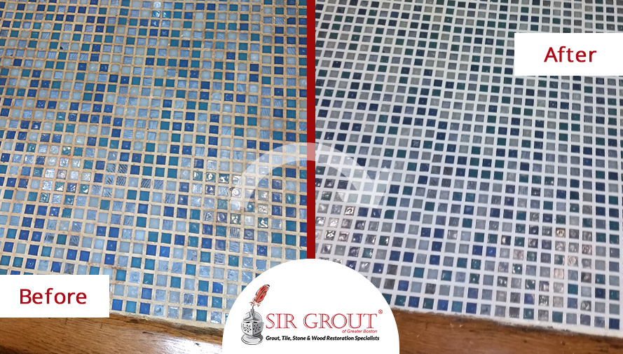 This Brookline Village Family Avoids an Expensive Bathroom Remodel Thanks to a Grout Sealing Job