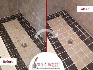 A Grout Cleaning and Sealing Service in Everett, MA Gave this Bathroom a Fresh, New Look