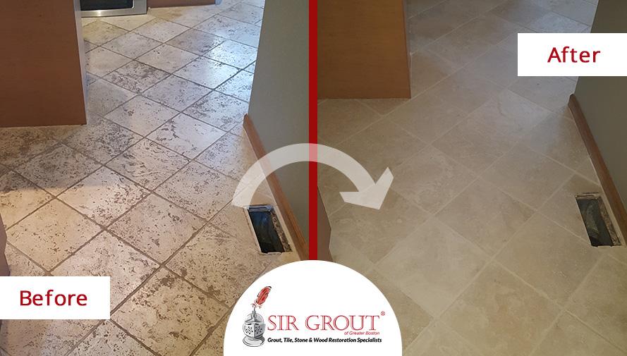 Read How A Tumbled Marble Floor In Shrewsbury Ma Looked