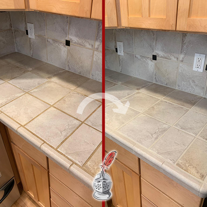 Tile Countertop Restoration