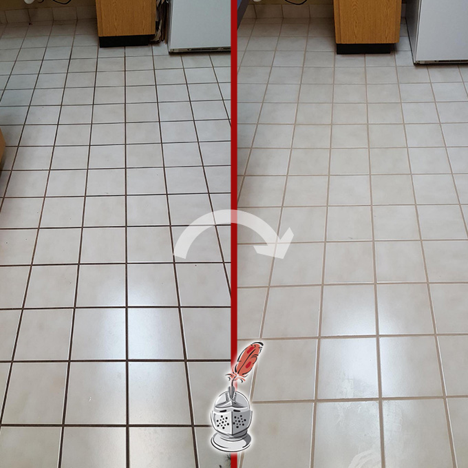 Kitchen Grout Deep Cleaning