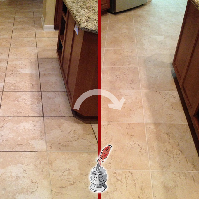 Grout Cleaning Process