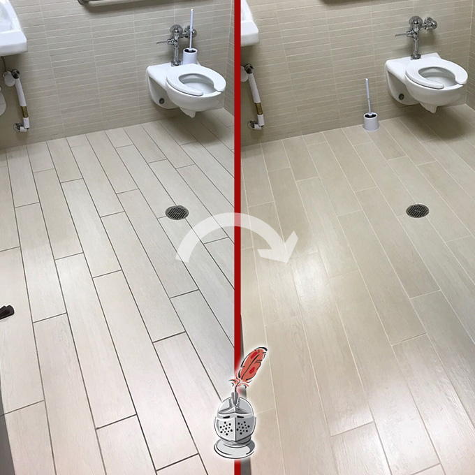 Restrooms Floor Restoration