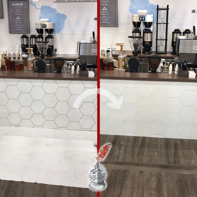 Coffee Shop Grout Recoloring