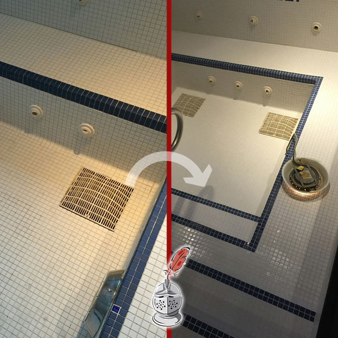 Jacuzzy Tile and Grout Restoration