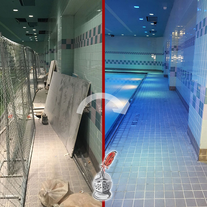 Gym Tile And Grout Restoration