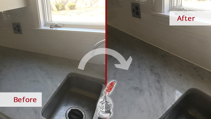Before and After Picture of a Bathroom Grout Cleaning in Winchester, MA
